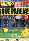 Portada Mundo Deportivo del 18 de Marzo de 2013