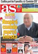 Portada diario AS del 19 de Marzo de 2013