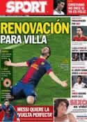 Portada diario Sport del 19 de Marzo de 2013