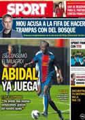 Portada diario Sport del 20 de Marzo de 2013