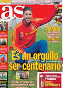 Portada diario AS del 21 de Marzo de 2013