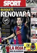 Portada diario Sport del 22 de Marzo de 2013