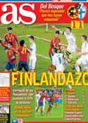 Portada diario AS del 23 de Marzo de 2013