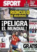 Portada diario Sport del 23 de Marzo de 2013