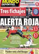 Portada Mundo Deportivo del 23 de Marzo de 2013