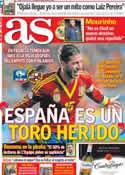 Portada diario AS del 24 de Marzo de 2013