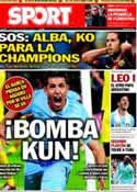 Portada diario Sport del 24 de Marzo de 2013