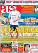 Portada diario AS del 25 de Marzo de 2013