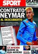 Portada diario Sport del 25 de Marzo de 2013