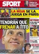 Portada diario Sport del 26 de Marzo de 2013