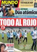 Portada Mundo Deportivo del 26 de Marzo de 2013