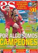 Portada diario AS del 27 de Marzo de 2013