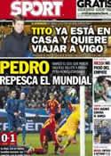 Portada diario Sport del 27 de Marzo de 2013