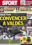 Portada diario Sport del 28 de Marzo de 2013