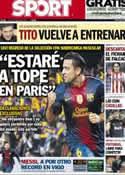 Portada diario Sport del 29 de Marzo de 2013