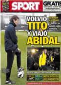Portada diario Sport del 30 de Marzo de 2013