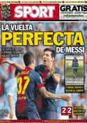 Portada diario Sport del 31 de Marzo de 2013