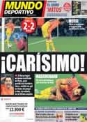 Portada Mundo Deportivo del 3 de Abril de 2013