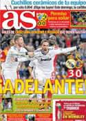 Portada diario AS del 4 de Abril de 2013