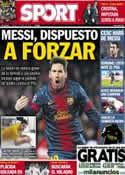 Portada diario Sport del 4 de Abril de 2013