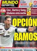 Portada Mundo Deportivo del 6 de Abril de 2013