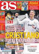 Portada diario AS del 7 de Abril de 2013
