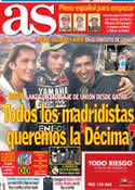 Portada diario AS del 8 de Abril de 2013