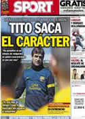 Portada diario Sport del 8 de Abril de 2013