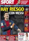 Portada diario Sport del 9 de Abril de 2013
