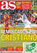 Portada diario AS del 10 de Abril de 2013