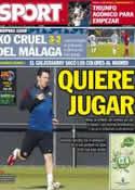 Portada diario Sport del 10 de Abril de 2013