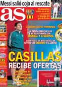 Portada diario AS del 11 de Abril de 2013