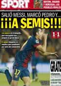 Portada diario Sport del 11 de Abril de 2013