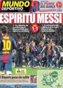 Portada Mundo Deportivo del 11 de Abril de 2013