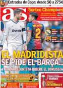 Portada diario AS del 12 de Abril de 2013