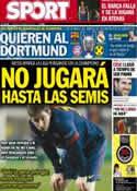 Portada diario Sport del 12 de Abril de 2013
