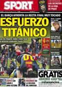 Portada diario Sport del 14 de Abril de 2013