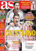 Portada diario AS del 15 de Abril de 2013