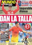 Portada Mundo Deportivo del 15 de Abril de 2013