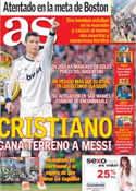 Portada diario AS del 16 de Abril de 2013