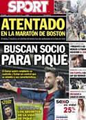 Portada diario Sport del 16 de Abril de 2013