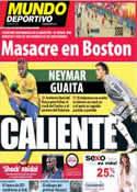 Portada Mundo Deportivo del 16 de Abril de 2013