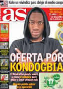 Portada diario AS del 17 de Abril de 2013