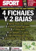 Portada diario Sport del 17 de Abril de 2013