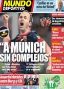 Portada Mundo Deportivo del 18 de Abril de 2013