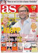 Portada diario AS del 19 de Abril de 2013
