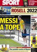 Portada diario Sport del 19 de Abril de 2013
