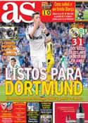 Portada diario AS del 21 de Abril de 2013