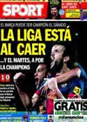 Portada diario Sport del 21 de Abril de 2013