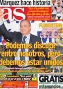 Portada diario AS del 22 de Abril de 2013